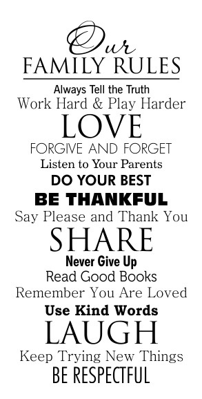 Our Family Rules Family Rules Pinterest Vinyls