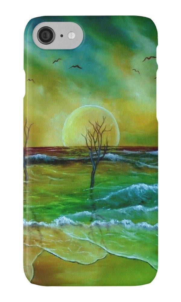 IPhone Case,  coastal,waves,sea,beach,sky,naturegreen,blue,golden,colorful,impressive,fantasy,cool,beautiful,unique,trendy,artistic,unusual,accessories,for sale,design,items,products,ideas,redbubble