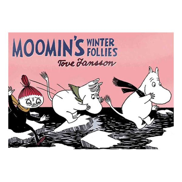 Moomin's Winter Follies (full-colour comic strips)  Moomin wakes up one morning to find the pond frozen over, and rather than hibernate, the family decides to brave the winter weather. At first, their wintry adventure seems to be going swimmingly, until Mr. Brisk of the Great Outdoors Club takes over and forces everyone to embrace the winter sports, whether they want to or not.