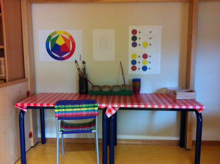 De ontdekhoek: het mengen van kleuren oftewel: toveren!