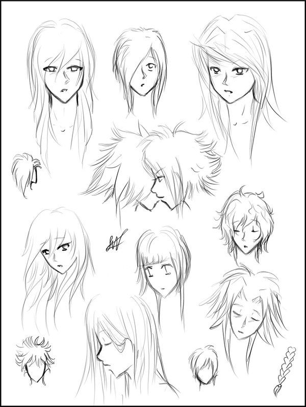 Pleasant 1000 Ideas About Manga Hairstyles On Pinterest Anime Hairstyles Short Hairstyles For Black Women Fulllsitofus