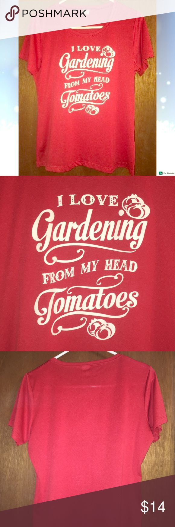SportTek Red Gardening Garden Silky Dry Fit Tee Sport-Tek!  ❣️Custom design Shirt! ❣️Cute script and raised design  ❣️Perfect gift for your gardening friends and family! ❣️Fun play on words! 🌹Comment with any questions! Thanks for viewing!  👋😘 Sport-Tek Tops Tees - Short Sleeve