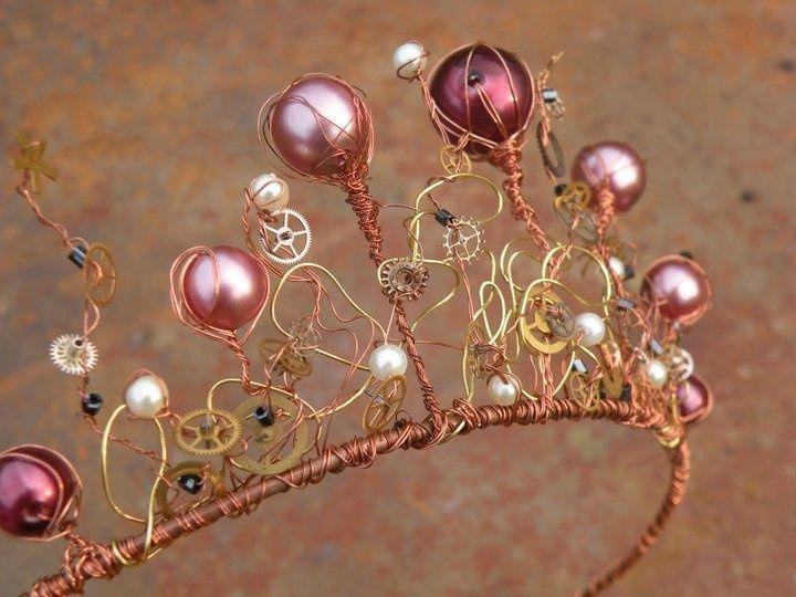 homemade wire tiara   FAIRYTALE TIARAS   Pinterest