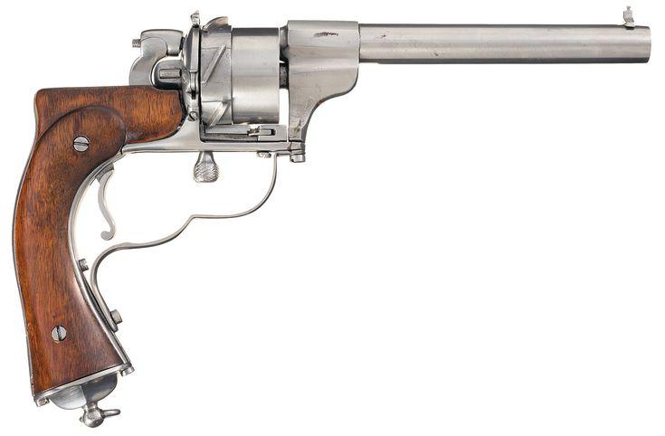 "Unique Unidentified European Prototype ""Zig-Zag"" Style Revolver"