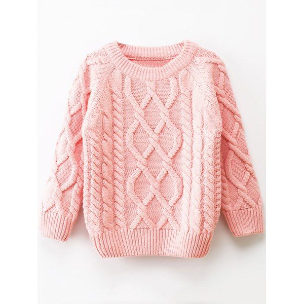 Girls Crew Neck Cable Knit Pullover Sweater - Pink 110 Mobile | Lovely  sweater, Sweaters, Winter knit sweater