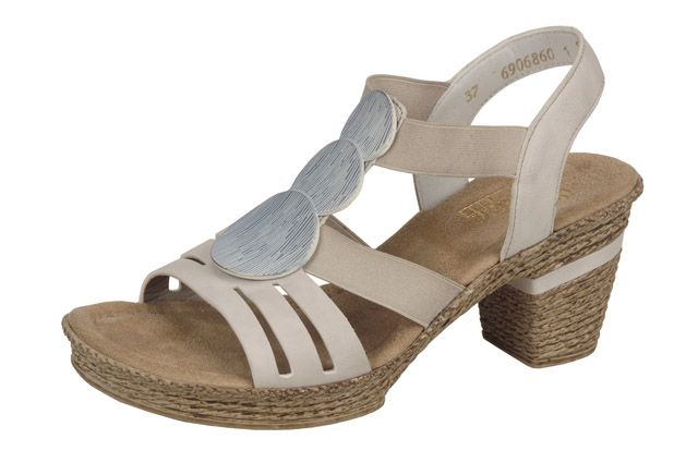 Super comfortable stappy sandal with broach detail from Rieker's S/S 15 collection