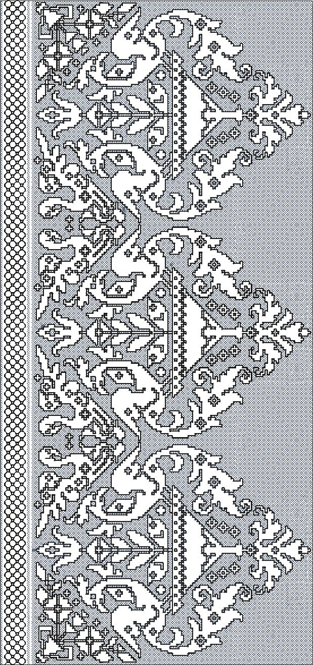 "Embroidery,Assisi design ""shelled border""."
