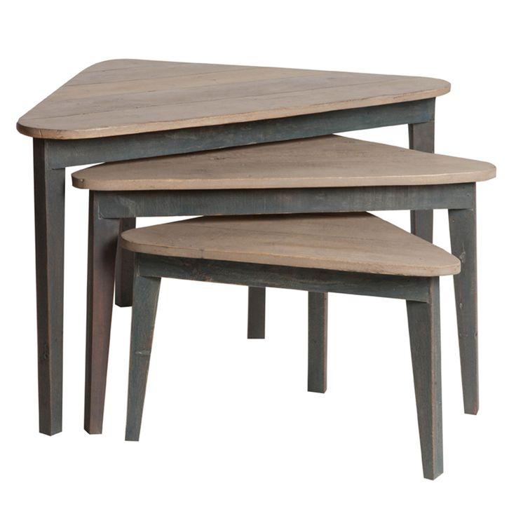 Tables gigognes triangulaires en bois SARK port offert