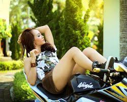 Sexy girl on the bike