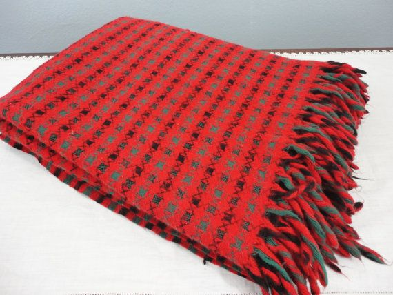 Faribo Acrylic Blanket Throw  Red Green Black by preservinghome