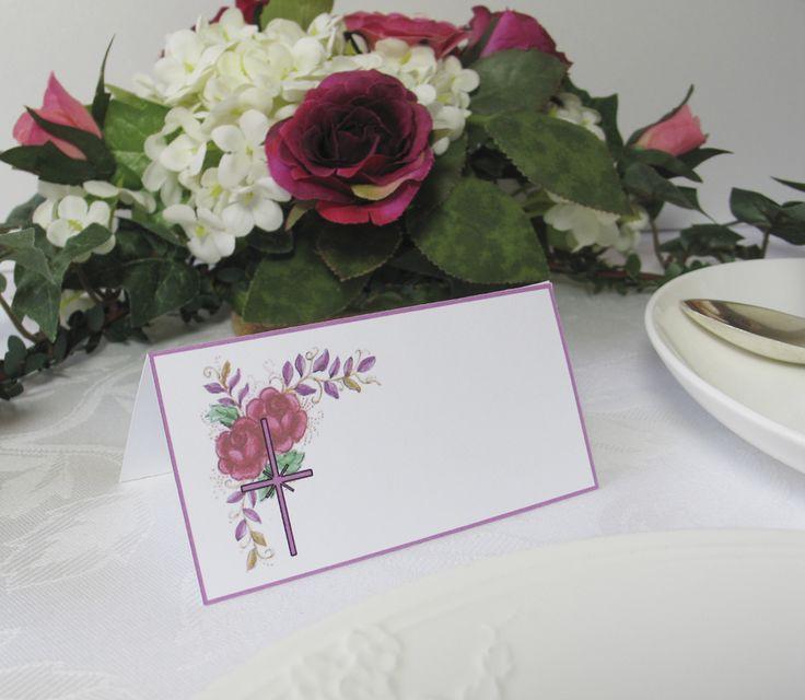 6 Tischkarten Platzkarten christliche Motive Lavender Rose kaufen