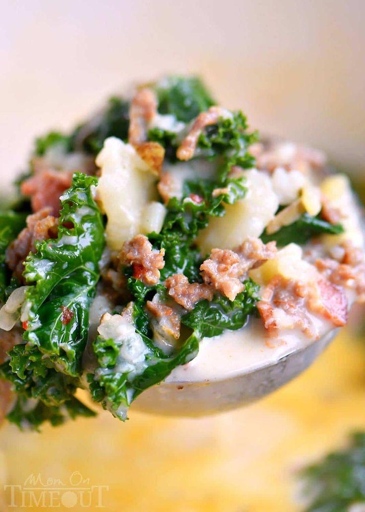 One Pot Olive Garden Zuppa Toscana Soup - Mom On Timeout