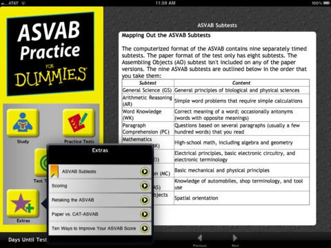 Petersons test prep asvab study