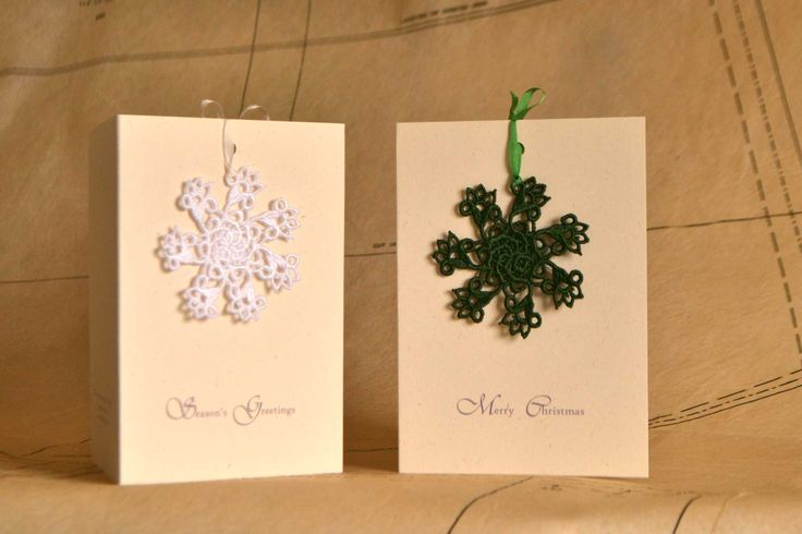 Snowflake Lace ornament Card - JC Middlebrook