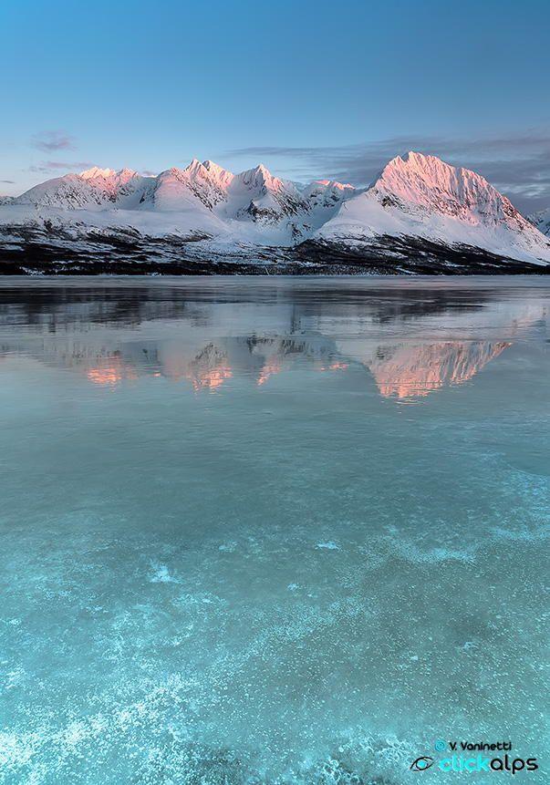 Frozen sunset--Lyngen Alps, Norway