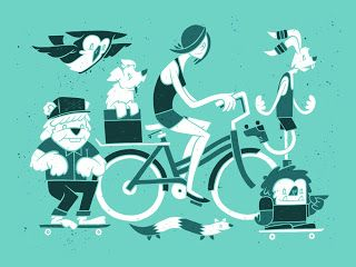 Crusin' around town Screen Printed art print for ArtCrank Denver 2013. 18x24, 3c hand drawn poster. Signed and Numbered, Edition of 50.  http://insidetherockposterframe.blogspot.com.au/2013/09/john-vogl-mgmt-poster-prints-on-sale.html