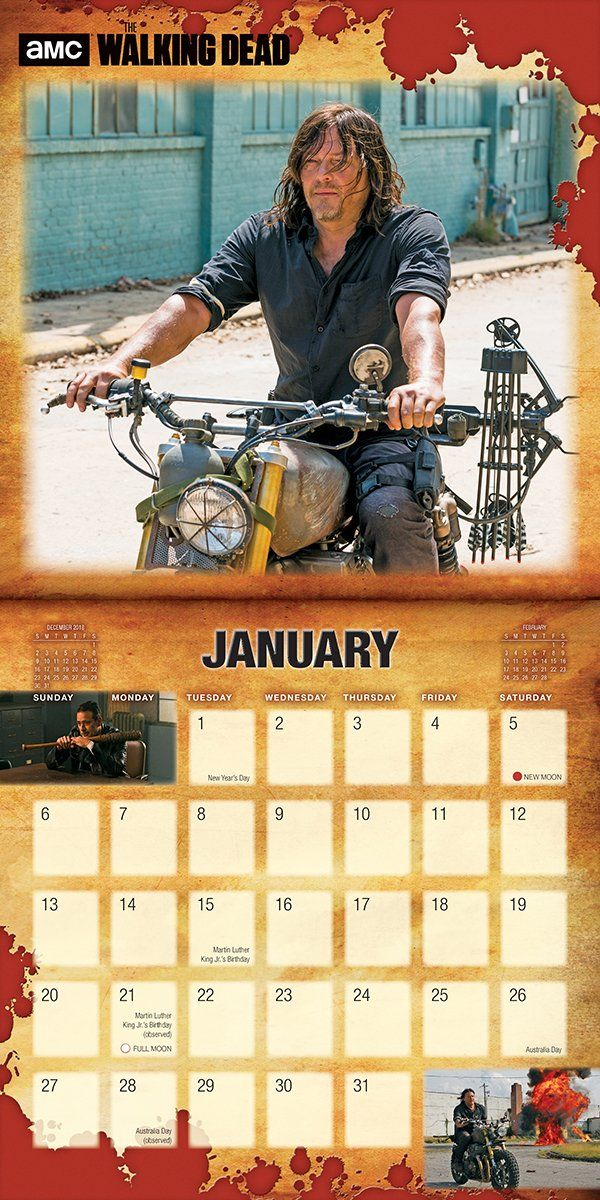 Amc The Walking Dead 2019 Wall Calendar Calendar Wall Calendar June 22 2018 Dead Amc Walking Wall Wall Calendar The Walking Dead Amc