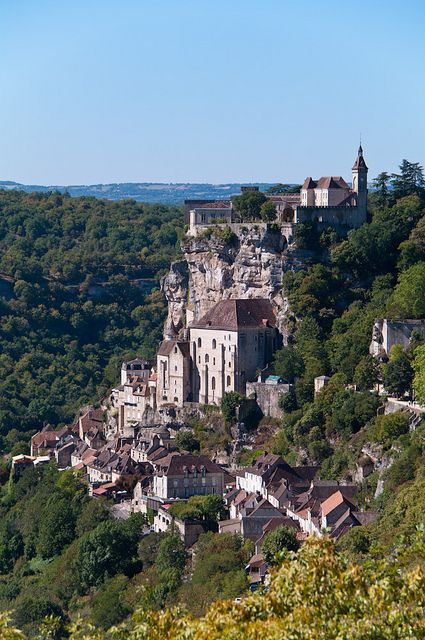 My favorite place on earth!  Rocamadour, France.                  (pictures don't do it justice!)