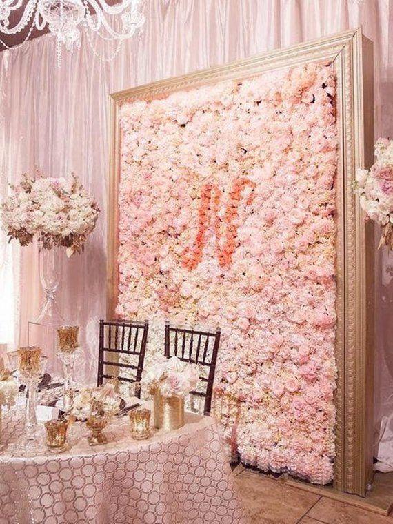 8 Foot Wall Blush Ivory Flower Wall Pink Panels Hydrangeas Artificial Flower Wedding Decorations Fak Flower Wall Backdrop Wall Backdrops Silk Hydrangeas