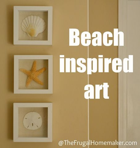 Shadow box - starfish. Cool idea for all my shells and sand dollars