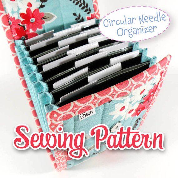 PDF SEWING PATTERN - Circular Needle Organizer Knitting Needle Organizer ebook diy instant download