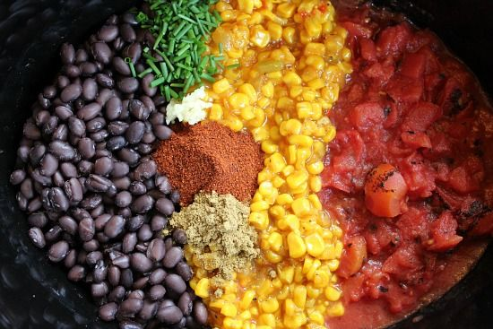 Easy Slow Cooker Recipes - Black Bean and Corn Soup | One Hundred Dollars a Month