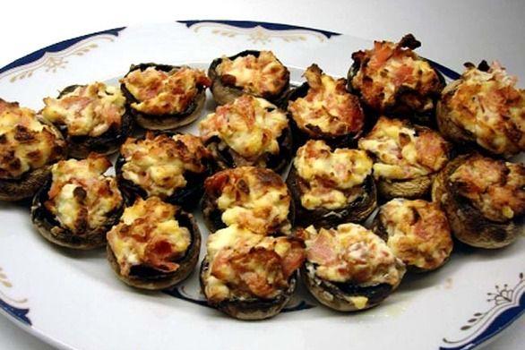 Ένα ορεκτικό για... απίθανη γεύση - Γεμιστά μανιτάρια με μπέικον και τυριά