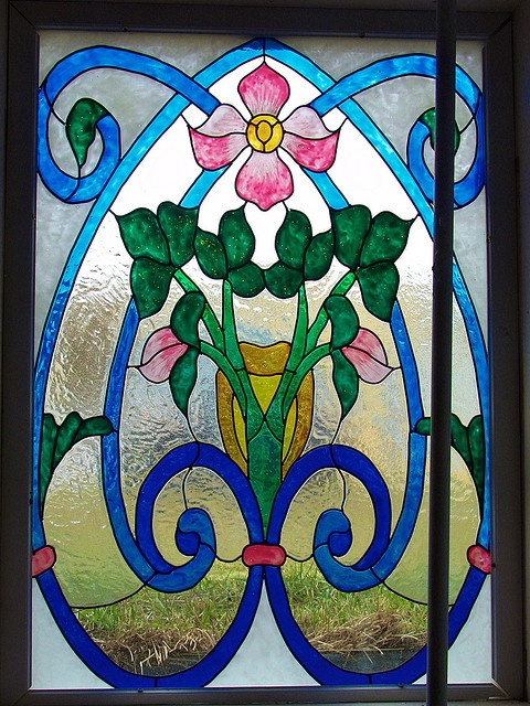 Stained glass - #2 basement window