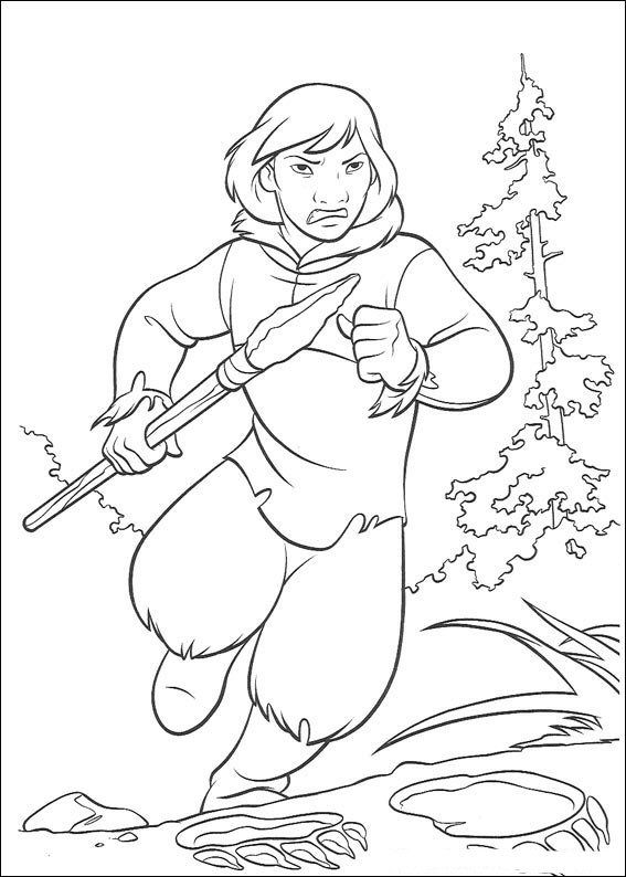 kleurplaat brother bear brother bear - Brother Bear Moose Coloring Pages