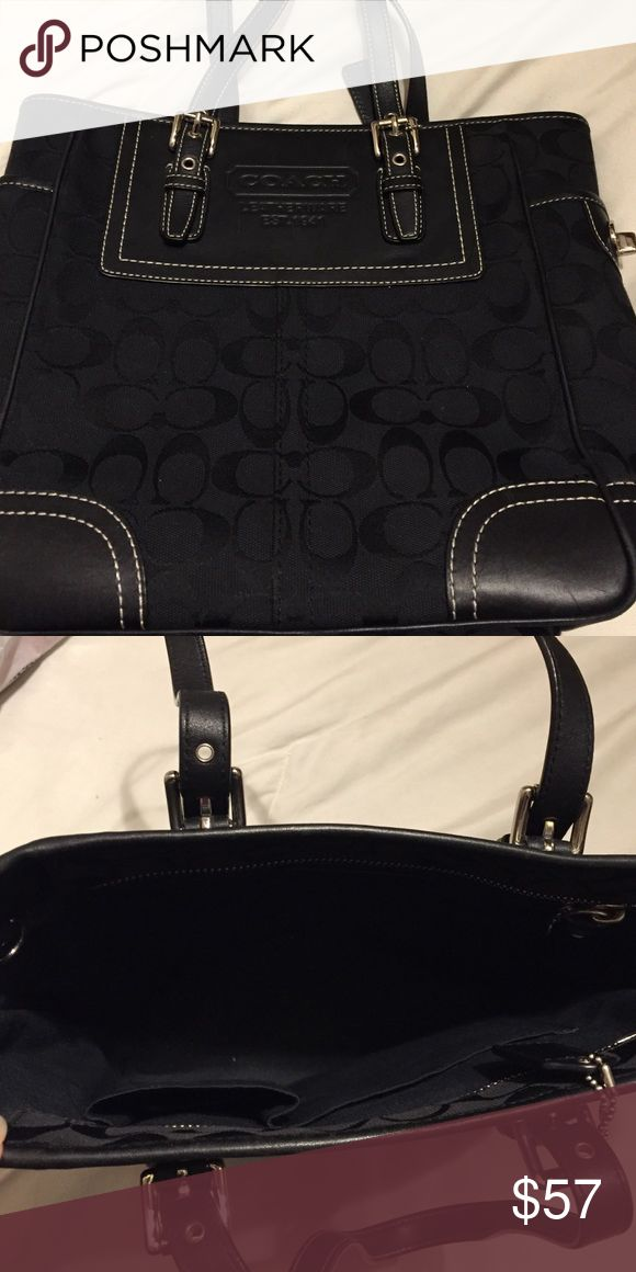 Coach pocketbook - black Black coach pocketbook Coach Bags Totes