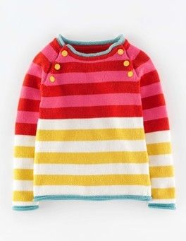 Stripy knitted sweater