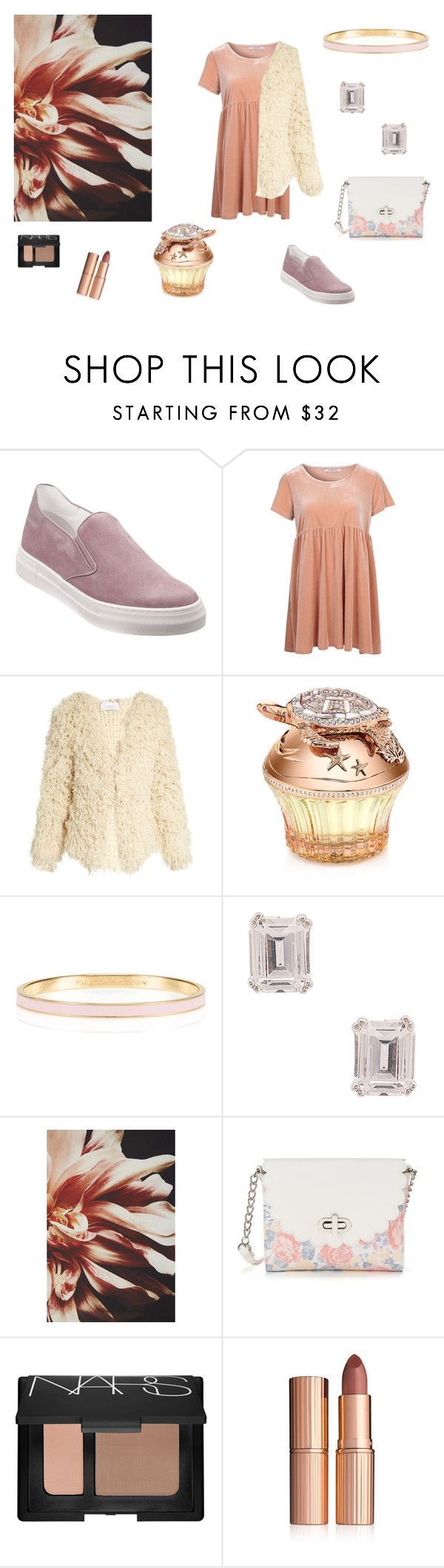 """Астра"" by anna-modestovna ❤ liked on Polyvore featuring Glamorous, Ryan Roche, House of Sillage, Kate Spade, Lisa Freede, Anthropologie, Candie's, NARS Cosmetics and Charlotte Tilbury"