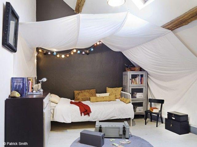 Chambre enfant ciel de lit