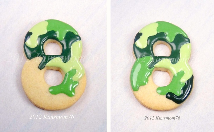 Camouflage Cookies - how to