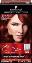 Schwarzkopf Color Ultime Flaming Reds 5.29 Vintage Red Hair Color Box