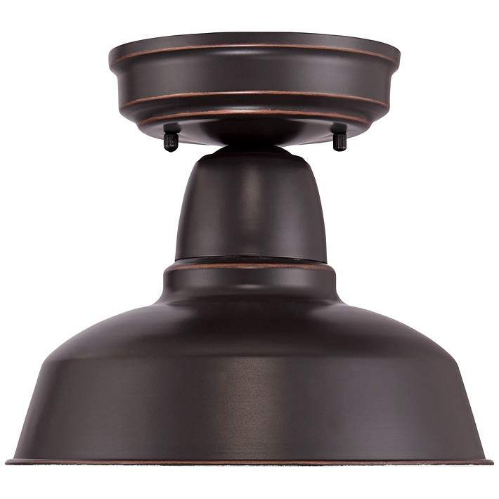 """Urban Barn Collection 10 1/4""""W Bronze Outdoor Ceiling Light - #4J465   Lamps Plus"""