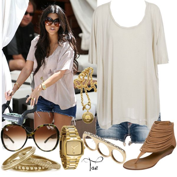 Kourtney Kardashian, created by shartae on Polyvore