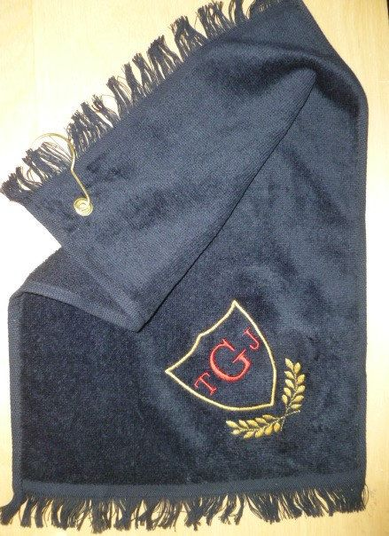 Golf Towel Personalized Golf Towel by LindasSewFashionable on Etsy