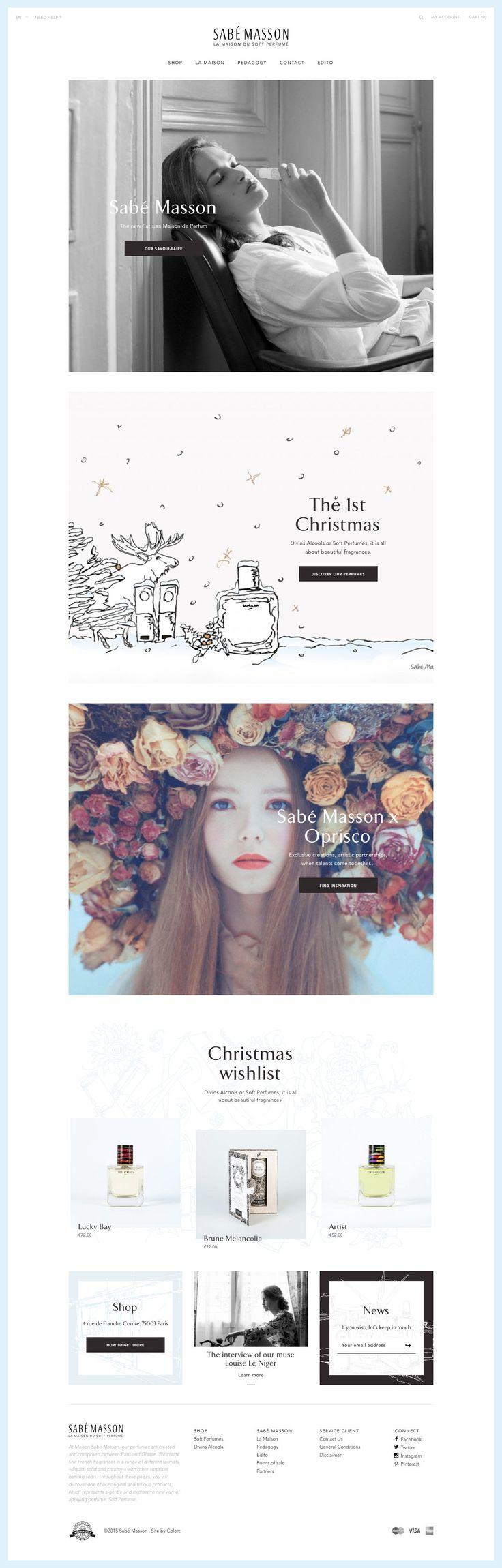Sabé Masson (More web design inspiration at topdesigninspiration.com) #design #web #webdesign #inspiration #sitedesign #responsive