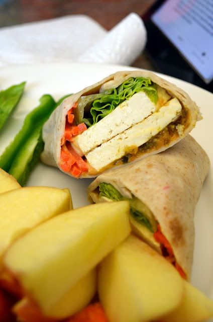 vegan tofu hummus wrap | Vegan and Vegetarian | Pinterest