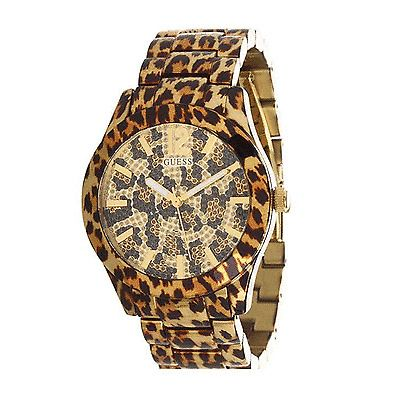 GUESS Women's U0001L2 Sporty Animal Magnetism Gold-Tone Watch #GUESS #WomensWatches