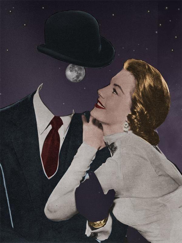 Llego un momento donde miro al cielo y veo a la Luna, acompañándome en mis amarguras o en mi risas, solo confío en ella para contarle lo que nadie sabe. No me juzga, no me hiere, solo me quiere y lo sé porque me escucha con sumo interés. | Collage by Joe Webb
