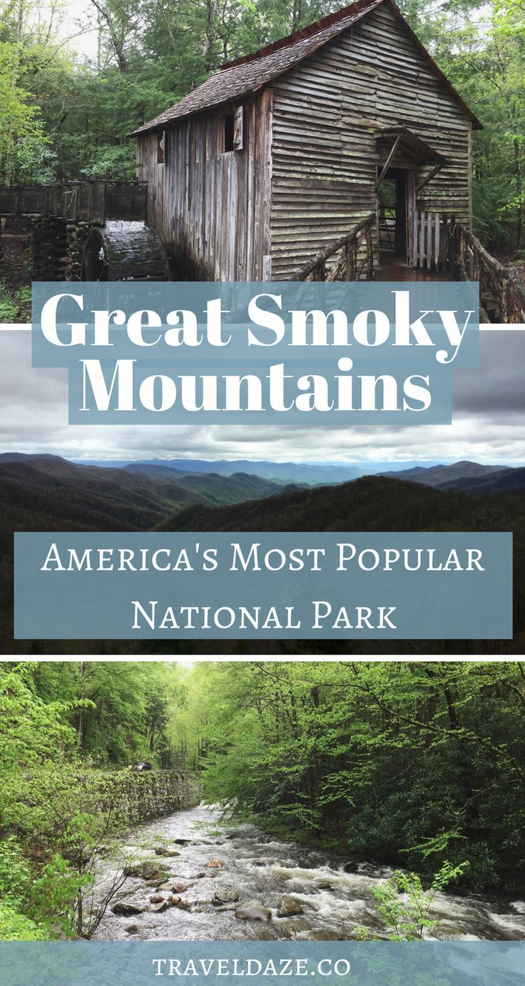 Find out why Great Smoky Mountains is America's Most Popular National Park + see the top things to do #nationalparks #usa