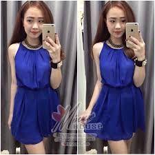 Image result for váy màu xanh coban cho bé gái