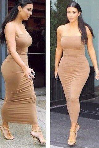 Sexy Strapless Solid Tight Maxi Dress – WOMENPOP