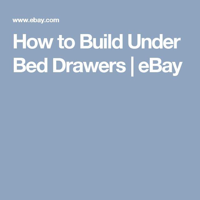 Best 25 Under Bed Drawers Ideas On Pinterest Shoe