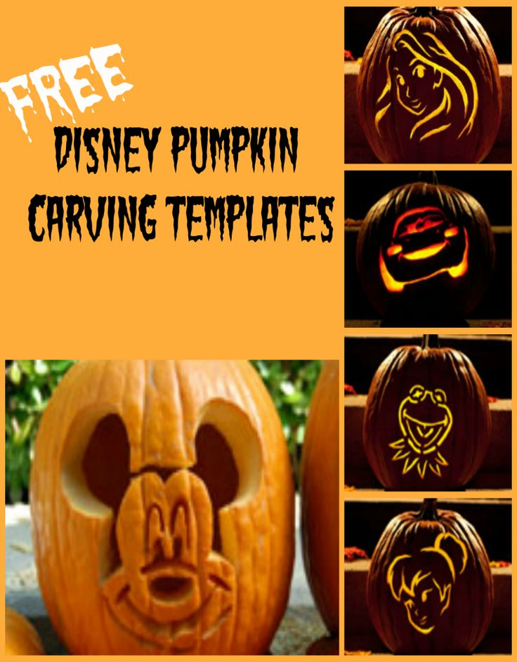 Use a Disney Pumpkin Carving Template this year! Print your free pattern
