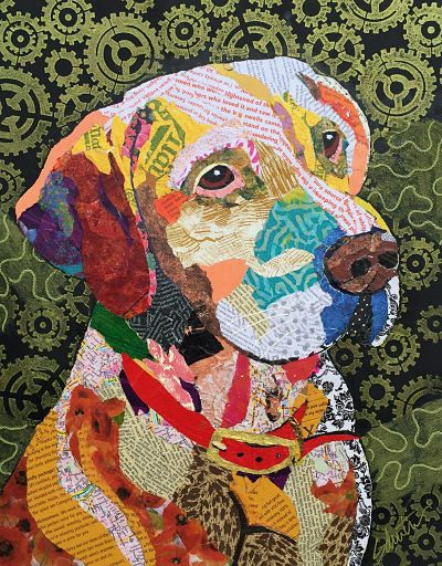 Karla Schuster Art  -  torn paper collage                                                                                                                                                                                 More