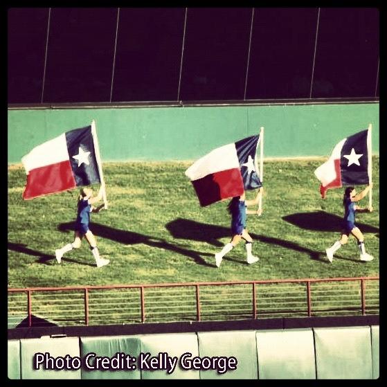Texas Flags on the Batter's Eye at Rangers Ballpark.