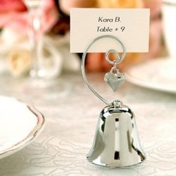 Leave your reception to the sound of music - Bell Placecard Wedding Favor